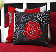 Set of 2 China Flower Jacquard Polyester Decorative Pillow With Insert