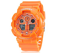 Unisex Multi-Function Analog-Digital Rubber Band Running Hiking Wrist Watch (Assorted Colors)