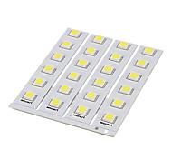 DIY 1W 6x5050SMD 30-60LM 5500-6000K Luz Cool Blanco Junta PCB LED (12V)