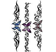 5 Stück Schmetterling wasserdicht Temporary Tattoo (10,5 cm * 20,5 cm) HM494