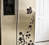 Autocollants de fleur de papillon Frigo muraux Stickers muraux Décor Maison