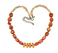 Fashion Orange Semi-Precious Necklace