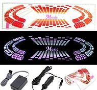 Car Sticker Music Rhythm LED Flash Light Lamp Voice activated Equalizer