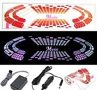 Adesivo de carro Música Rhythm LED Flash Light Lâmpada de voz ativado Equalizer