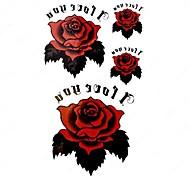 5 Stück Rose Wasserdicht Tattoo (10,5 cm * 20,5 cm) HM405