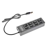 4-1 Hub Negro Súper USB