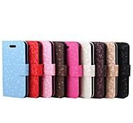 Diamant-Muster-Kreditkartenhalter-Leder Ganzkörper-Hülle für Apple iPhone 5 / 5S