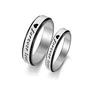 "Vintage Lovers Stainless Steel ""Forever Love"" Couple Rings (2 Pcs)"