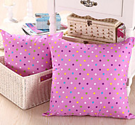 Muti-Colored Polka Dots Purple Pillow With Insert