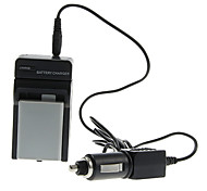 ismartdigi 1080mAh Camera Battery+Car Charger for Canon EOS 450D 500D 1000D 2000D Kiss X2 X3