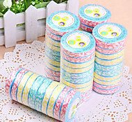Portable Multicolour Ripple Disposable Compressed Towel(10PCS Random Colors)