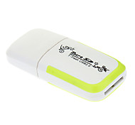 T-Flash USB 2.0 Micro SD Memory Card Reader (White)