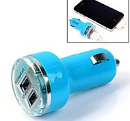 Tirol Mini Bullet Dual USB Car Charger 5V 3.1A Colorful 2 Ports Auto Charger for iPad Tablet Smart Phone
