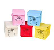 Lovely Cartoon Pattern Multicoloured Oxford Fabric Multipurpose Storage Box(Random Color)