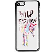 Trendy Colorful Zebra Pattern Aluminous Hard Case for iPhone 5C