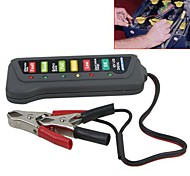 Tirol 12V LED Digital Battery Alternator Tester with 6 Led Lights Display Indicates Condition