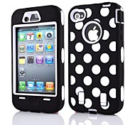2 en 1 point de vague Robot style PC et Case composite Sillcone pour iPhone 4/4S (couleurs assorties)