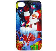 Para Funda iPhone 5 Diseños Funda Cubierta Trasera Funda Navidad Dura Policarbonato iPhone SE/5s/5