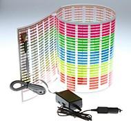Adesivo de carro Música Rhythm LED Flash Light Lamp som ativado Equalizer