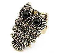 Vintage Owl Adjustable Ring
