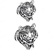 5 Stück White Tiger Wasserdicht Tattoo (10,5 cm * 20,5 cm) HM420