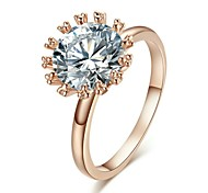 Clear imulated Diamond  Wedding Ring