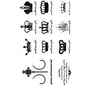 5 Stück Krone Wasserdicht Tattoo (10,5 cm * 20,5 cm) HM596