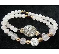 Style de rose d'amour Natural Rose Quartz Bracelet bénédictin vie amoureuse