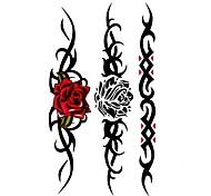 5 Stück Rose Wasserdicht Tattoo (10,5 cm * 20,5 cm) HM361