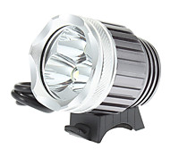 3XT6 Rechargeable 3-Mode 3xCree XM-L T6 LED Bicycle Front Light/Headlamp (1200LM,4x18650,Grey)