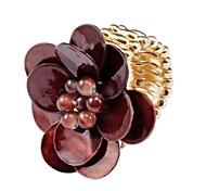 FashionShell Fleur Bague élastique