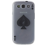 Poker Characteristic ACE Pattern Transparent Soft Back Case Cover for Samsung Galaxy S3 I9300