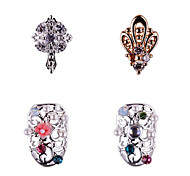 3PCS Zircon Diamond Studded Nail Art Alloy Decorations Riches And Honour No.10-61