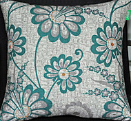 Green Winter Jasmine Pattern Decorative Pillow With Insert