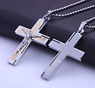 Персональный подарок ювелирные изделия нержавеющей стали Библия крестообразный выгравированы кулон ожерелье с 60 см цепи