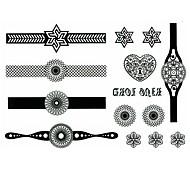 5 piezas de reloj al agua tatuaje temporal (11cm * 15cm)