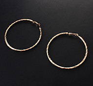 European Gold Alloy Hoop Earrings (1 Pair)