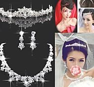 свадебные украшения и др ожерелье rhinetone тиара цветок уха клип
