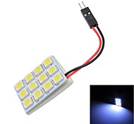 Merdia T10 12x5050SMD LED White Light Reading Light Bulb Lamp(12V)
