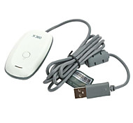 PC Wireless Gaming USB Receiver Adapter for XBOX 360 Controller (White)