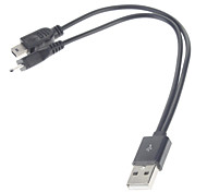 USB to Mini USB & Micro USB  Adapter Plug/Data/Charger/Cable