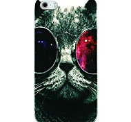 Glasses Cat Plastic Back Case for iPhone 5/5S
