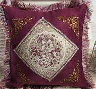 Retro Euro Floral Pattern Decorative Pillow With Insert - 2 Colors Available
