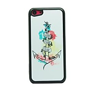 Anchor Drawing Pattern Hard Case for iPhone 5C
