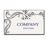 200pcs Personalized 2 Sides Printed Matte Film Vine Pattern Business Card