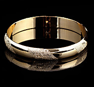 Classic 20cm Women's Gold Gold-Plated Bangle(1 Pc)