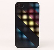 Colorful Band and Dots Protective Back Case for iPhone 4/4S