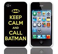 Rufen Batman Entwurfs-harter Fall mit 3-Pack-Display-Schutzfolien für das iPhone 4/4S
