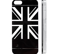 Union Jack Pattern Procase Series Snap-On Design LED Flash Light Color Changing Protective ABS Back Case with Battery  for iPhone 5/5S