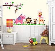 1PCS Colorful Animals' Party Wall Sticker